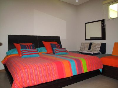 Recámara principal Desarrollo Península Golf Condominio en venta, El Tigre, Nuevo Vallarta, Nayarit, México