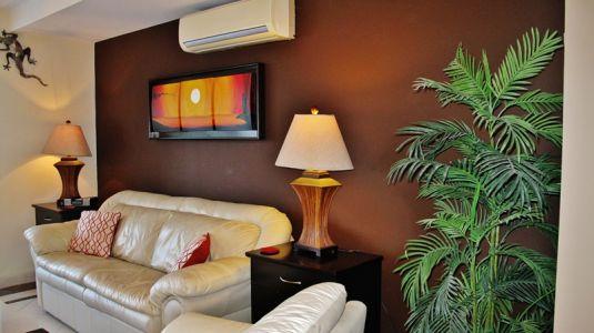 Sala con aire acondicionado Condominio en venta Villa Magna Nuevo Vallarta