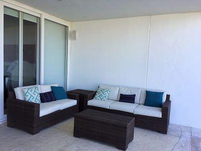 Sala en patio Departamento en Venta VillaMagna Nuevo Vallarta Nayarit