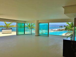 Vista a la alberca penthouse en venta Condominio Península en Nuevo Vallarta Nayarit