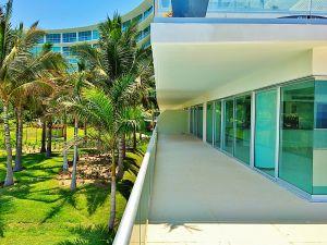 Vista terraza penthouse en venta Condominio Península en Nuevo Vallarta Nayarit