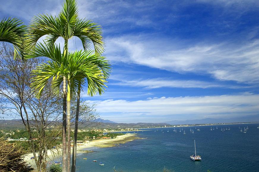Veleros playa Nuevo Vallarta