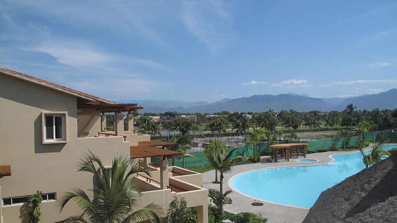 Vista aérea Desarrollo Isla Palmares en el Tigre Club de Golf en Nuevo Vallarta