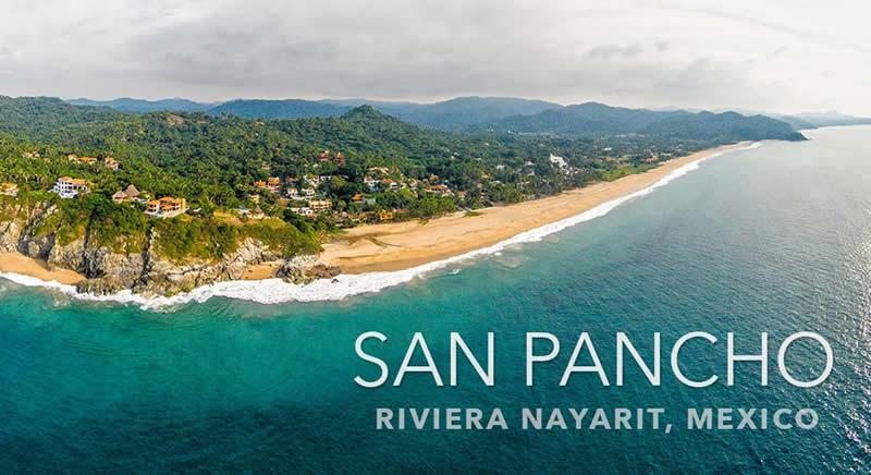 Vista aérea Condominio en venta Punta Paraíso San Pancho Riviera Nayarit