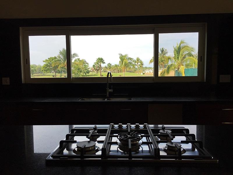 Vista al Campo de Golf Cocina Casa En Venta Vista Lagos Paradise Village El Tigre Nuevo Vallarta Nayarit Mexico