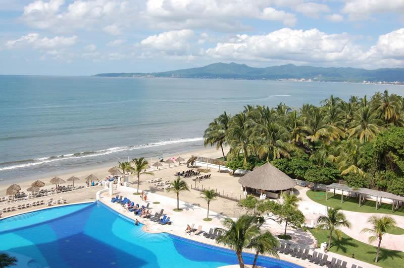 Vista al mar en terraza Condominio Villa Magna Nuevo Vallarta