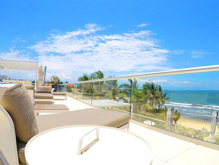 Vista al Sur desde Terraza- Penthouse frente al mar, Península Nuevo Vallarta México