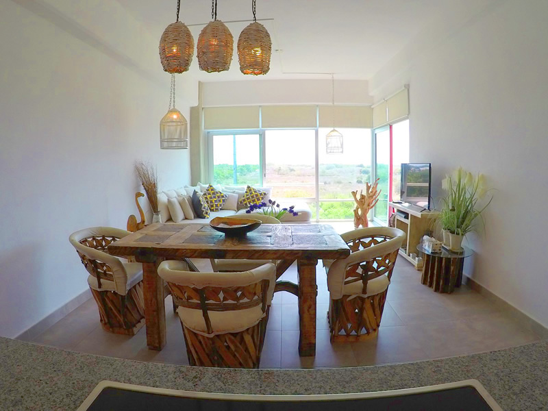 Vista Apartamento en Venta 3.14 Living Nuevo Vallarta Nayarit