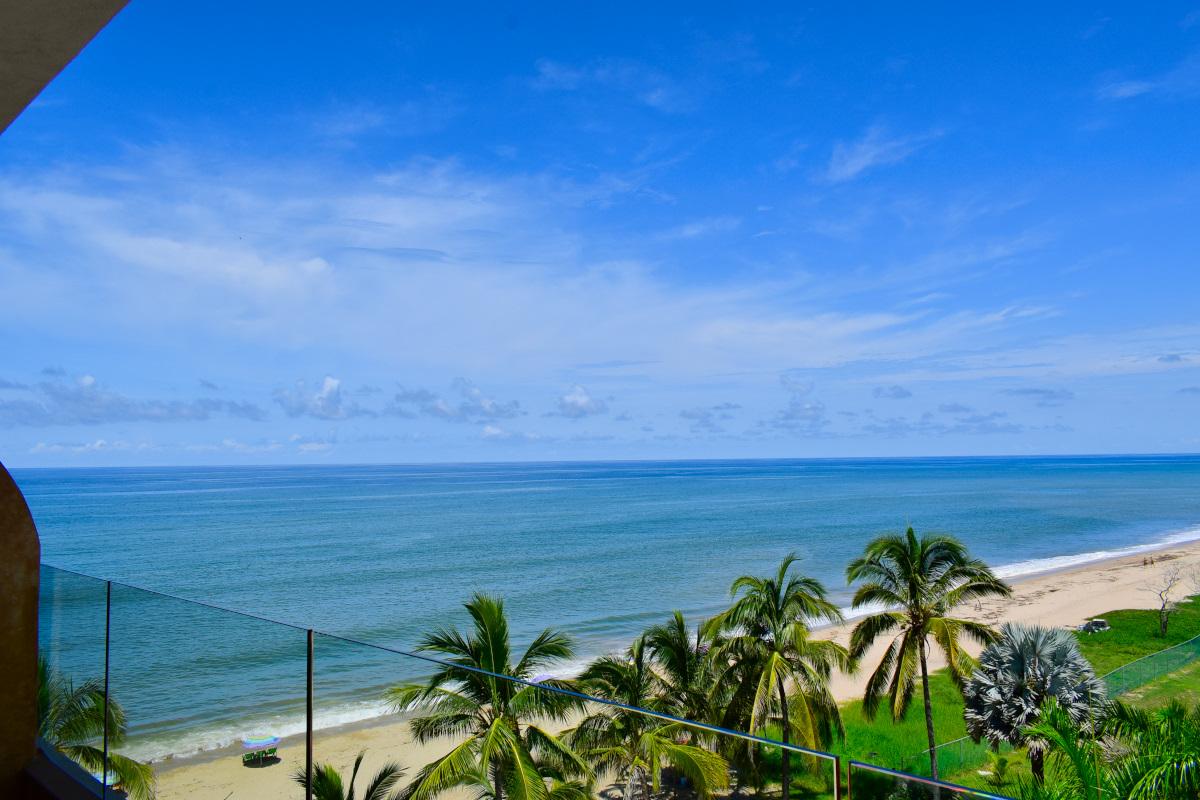 Vista balcón Penthouse Frente a la playa San Pancho Nayarit