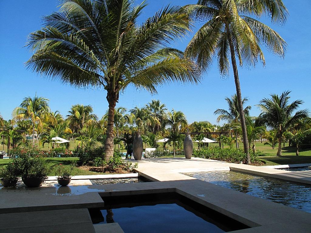 Vista campo de golf Desarrollo Península Golf Condominio en venta, El Tigre, Nuevo Vallarta, Nayarit, México