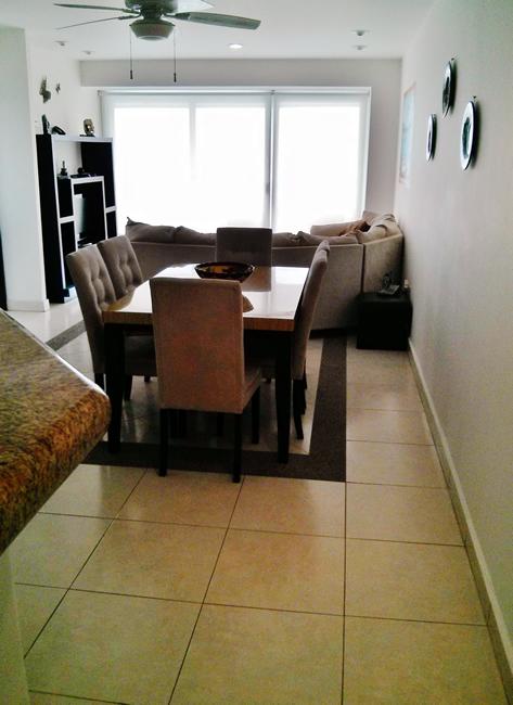 Vista comedor y sala desde entrada Condominio Villa Magna Nuevo Vallarta