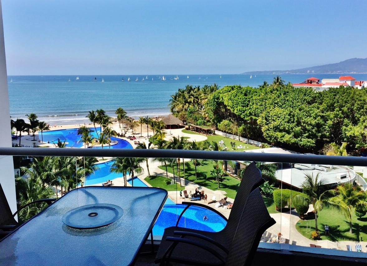 Vista del mar en terraza Condominio Villa Magna Nuevo Vallarta
