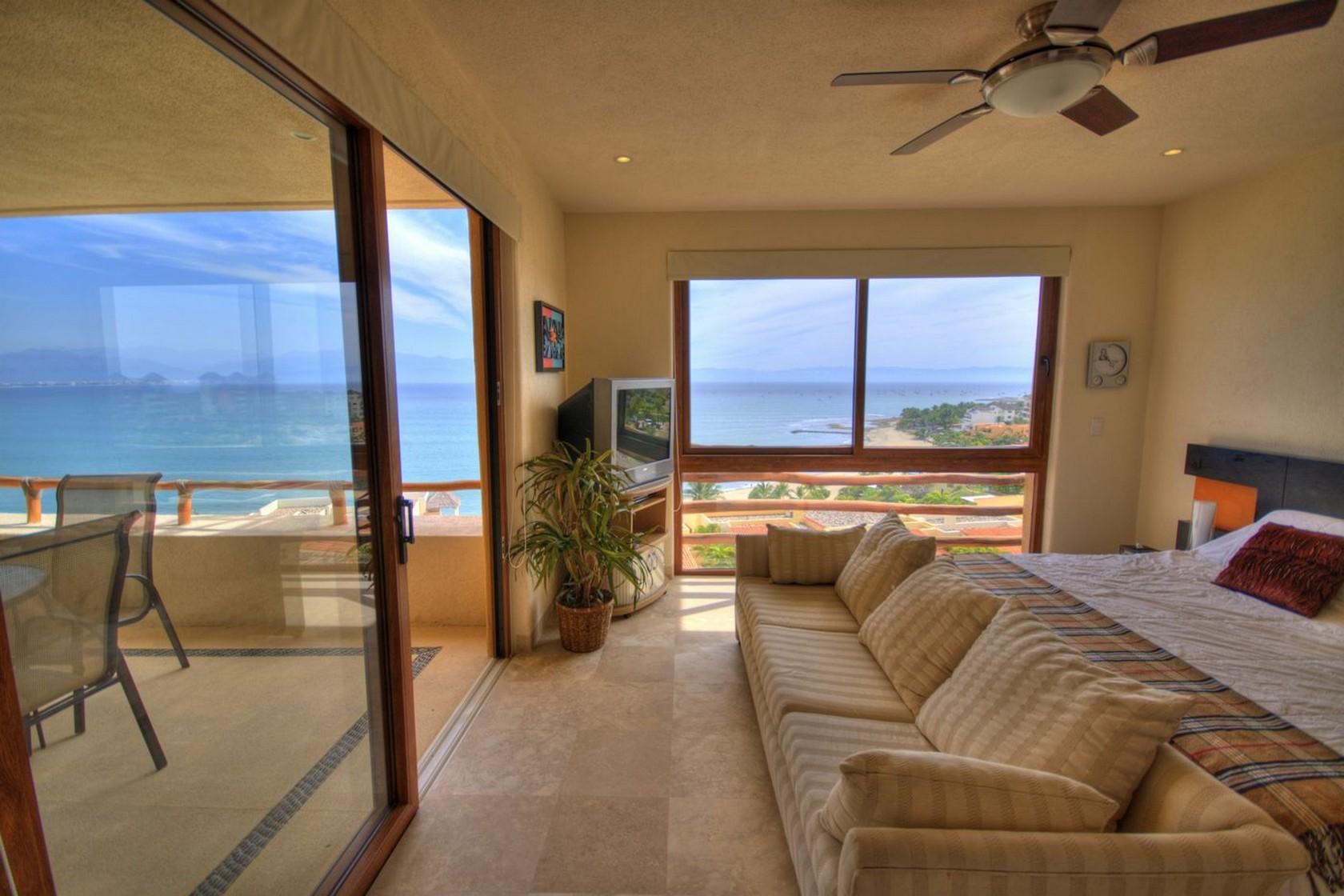 Vista recámara Departamento en venta Punta Esmeralda Resort La Cruz de Huanacaxtle