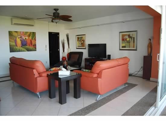 Vista sala Condominio Villa Magna Nuevo Vallarta