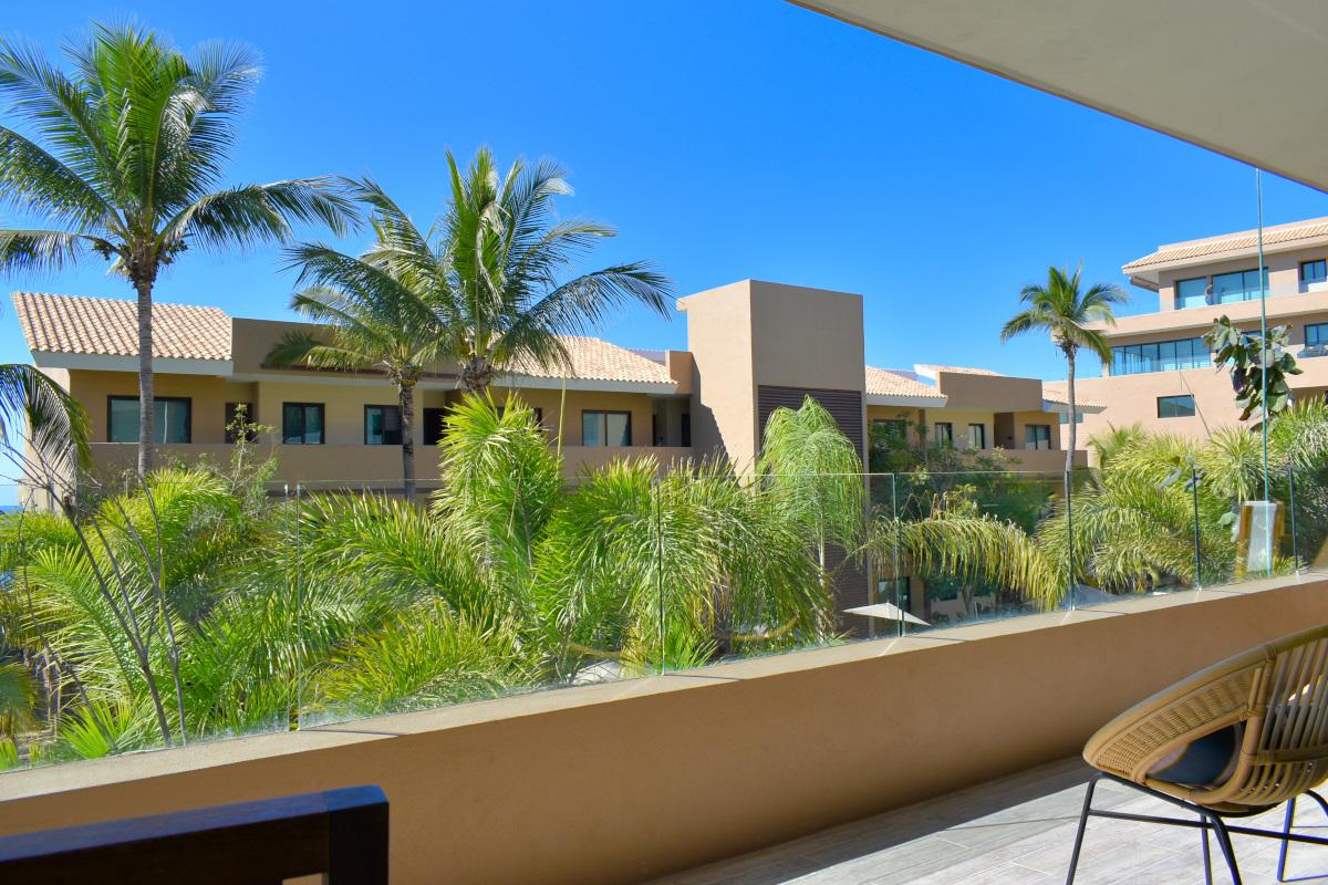 Vista terraza Condominio en venta frente a la playa San Pancho Nayarit