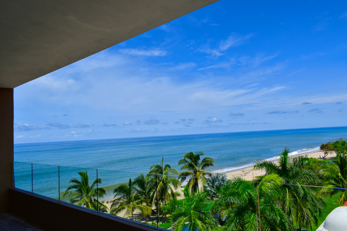 Vista terraza Penthouse Frente a la playa San Pancho Nayarit