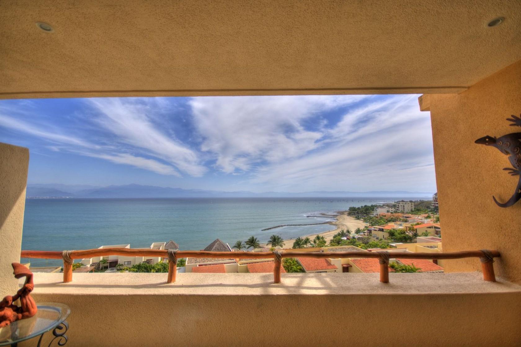 Vista terraza Departamento en venta Punta Esmeralda Resort La Cruz de Huanacaxtle