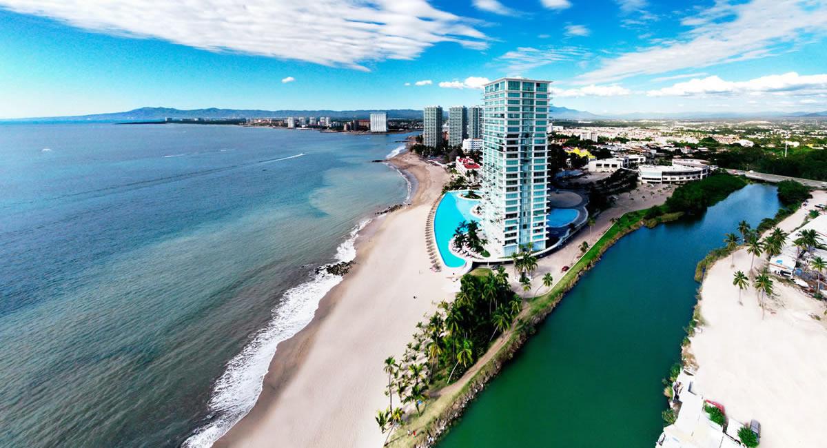 Vista aérea Condominio Peninsula Vallarta