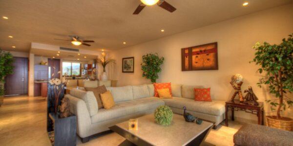 Sala Departamento en venta Punta Esmeralda Resort La Cruz de Huanacaxtle