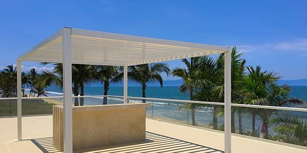 Terraza penthouse en venta Condominio Península en Nuevo Vallarta Nayarit